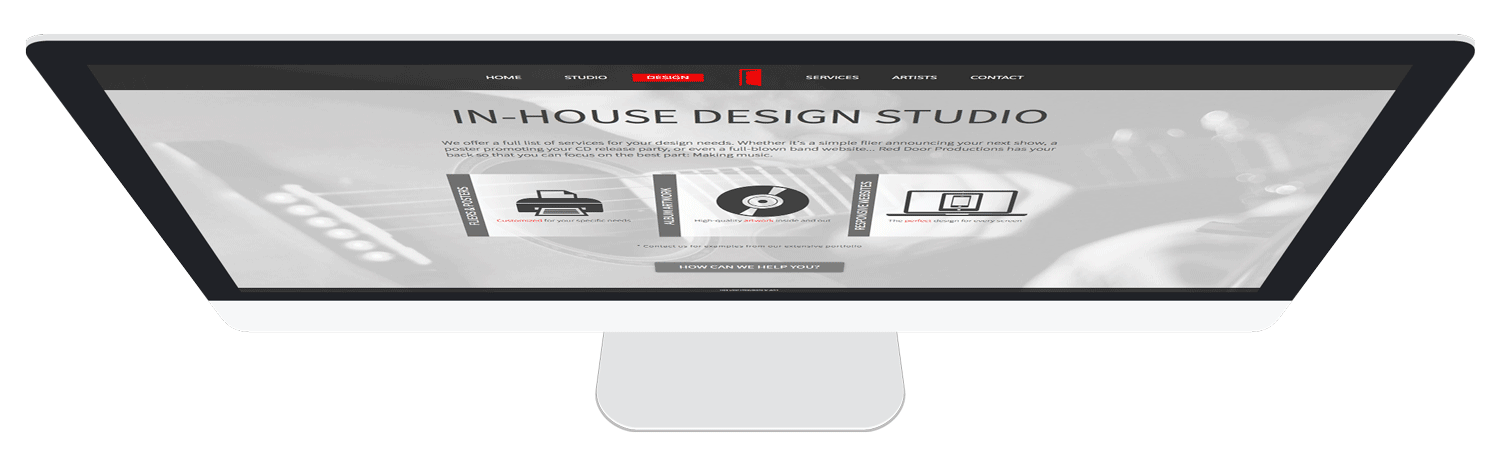 iMac with website